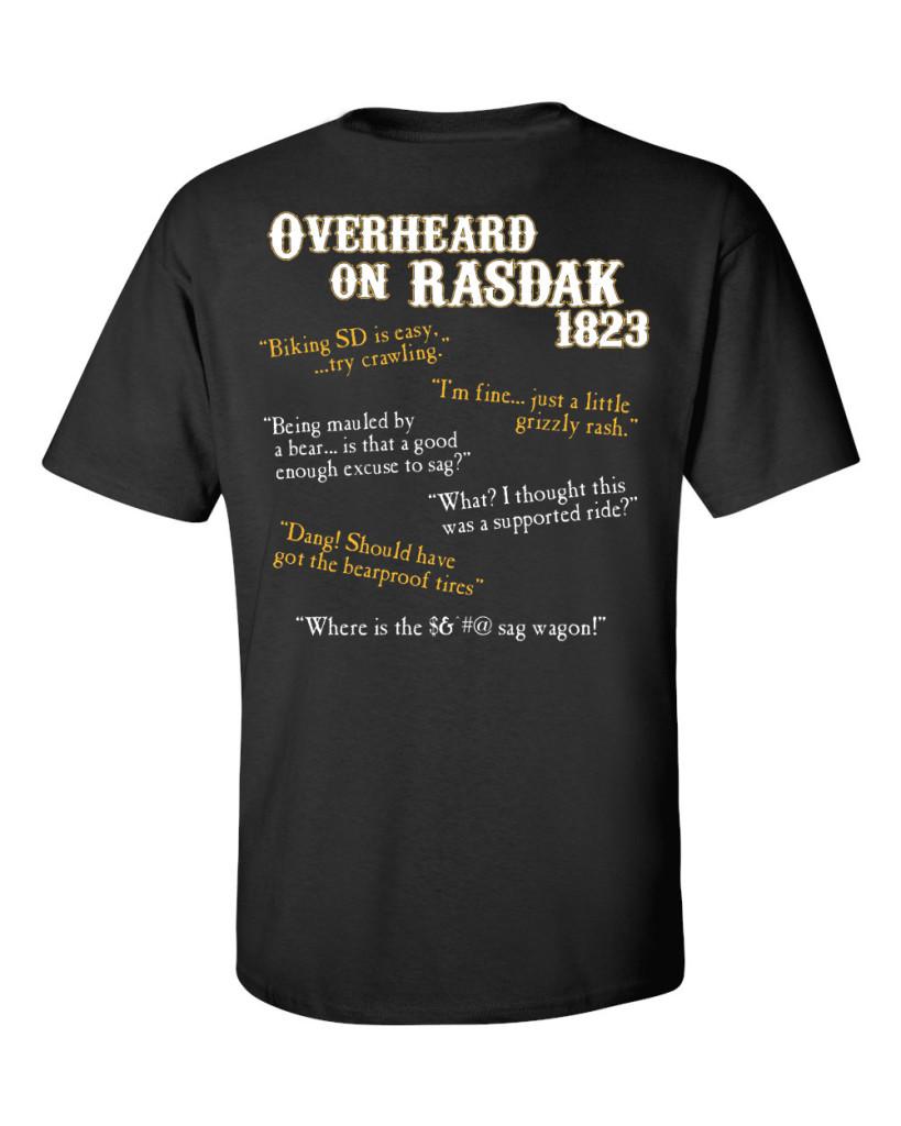 Rasdak 2016 t-shirt (back)